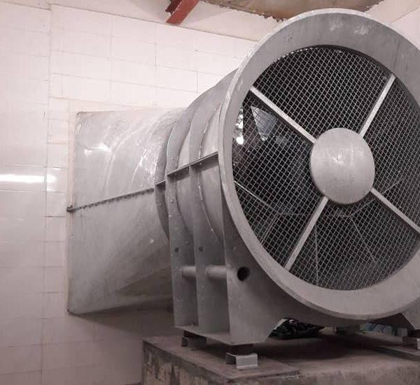 نصب و راه اندازی فن های سیستم تهویه خط ۶ مترو تهران